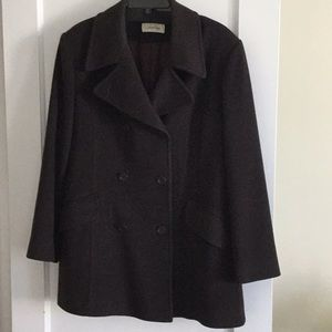 Vintage Calvin Klein pea coat 14 Bergdorf Goodman
